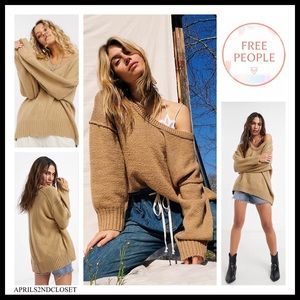 FREE PEOPLE BOHO PULLOVER TUNIC SWEATER TOP A2C